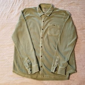 Lucky Brand Men's Olive Drab Button-down Shirt